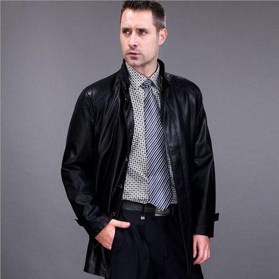 Parka - 2016 FreeShipping Hot Sale Winter Thick Leather Garment Casual flocking Leather Jacket Men's Clothing Leather Jacket Men EA118 -   jetcube