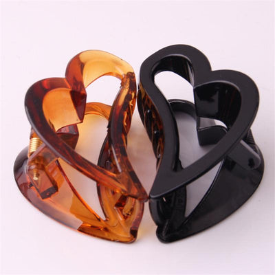 Hair Accessories - 2016 High-Quality Heart Shape Hair Claw Plastic Hair Crab Hair Accessories for Women Headwear Spring Joint Hair Clip Gripper -   jetcube
