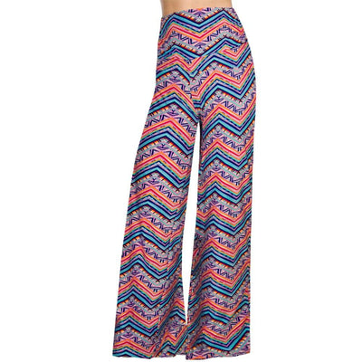 Pants & Capris - 2016 High Waist Loose Pants Palazzo Wide Leg Pants Floral Printing Tribal Pattern Plus Size Pants Palazzo Pants Plus Size 238 -   jetcube