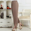 2016 New arrival plain color breathable summer chiffon women's pants