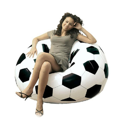 2016 Newest Inflatable Sofa Soccar Football Self Bean Bag Chair Portable Outdoor Garden Living Room Furniture Corner Sofa Set Outdoor Furniture Energetic House Life Store- upcube