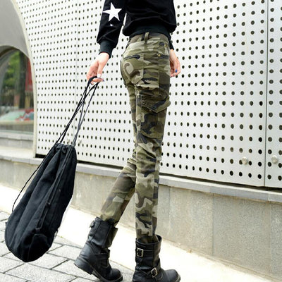 Jeans - 2016 fashion camo skinny jeans woman camouflage jeans slim plus size pencil jean femme pantalones vaqueros mujer 0421 -   jetcube