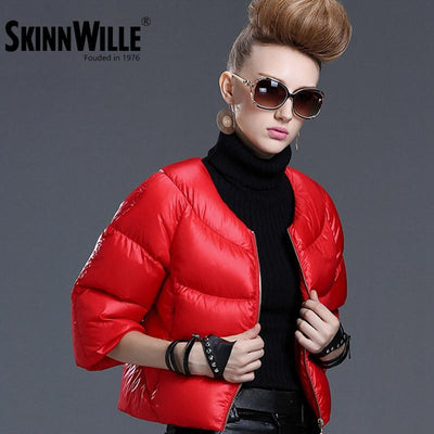 Down Coats - 2016 fashion high quality down coat female short design slim outerwear autumn and winter thickening thin -   jetcube