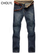 Jeans - 2016 high quality Retro Teenage Men Jeans Slim Straight Pants Spring and summer Casual Loose Pants CHOLYL Brand biker jeans -   jetcube