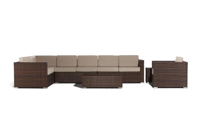 Outdoor Furniture - 2016 high quality outdoor rattan 7 seaters sofa set -   jetcube