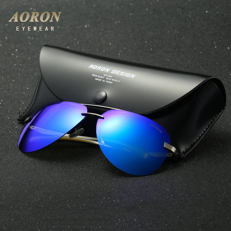 2017 AORON Brand Polarized Sunglasses Men's Classic Alloy Goggles Women's Fashion Designer Leisure Glasses Unisex New Eyewear Sunglasses Aoronbrand- upcube