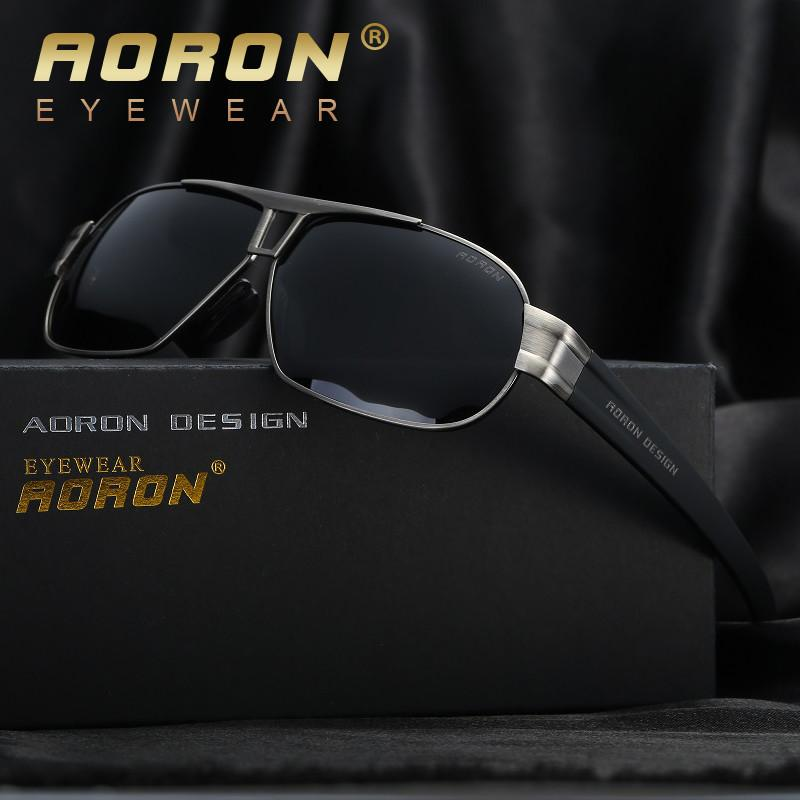 2017 AORON Polarized Sunglasses Men's Leisure Glasses Classic Design UV400 Sun Goggle oculos Male Cool Eyewear Accessories Sunglasses Aoronbrand- upcube
