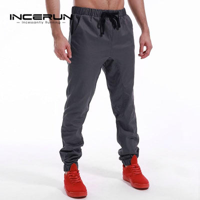 2017 Autumn Brand Casual Pants Men Hip Hop Harem Trousers Fashion Solid Color Elastic Cuff Cotton Joggers Male chinos pants Pants Bg2012 Store- upcube