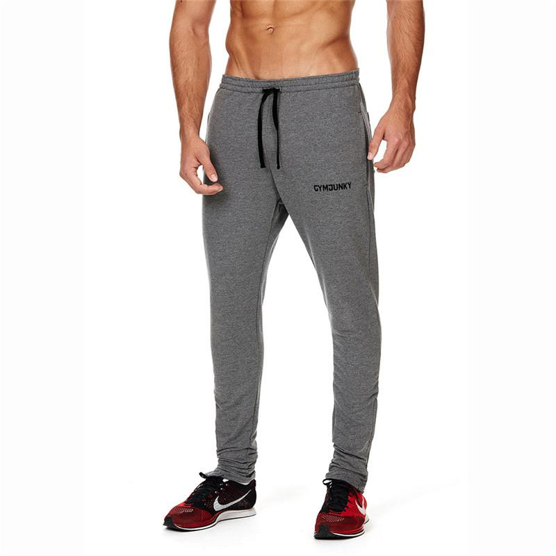 2017 Autumn Winter Cotton Embroidery Pants New Style Fashion Casual Gyms Skinny Black Gray Sweatpants Pants Trousers Men Joggers