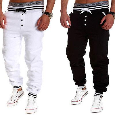 2017 Casual Pant Black White Harem Pants Men Trousers Sweatpants Slacks Loose Trousers Pants CEO- upcube