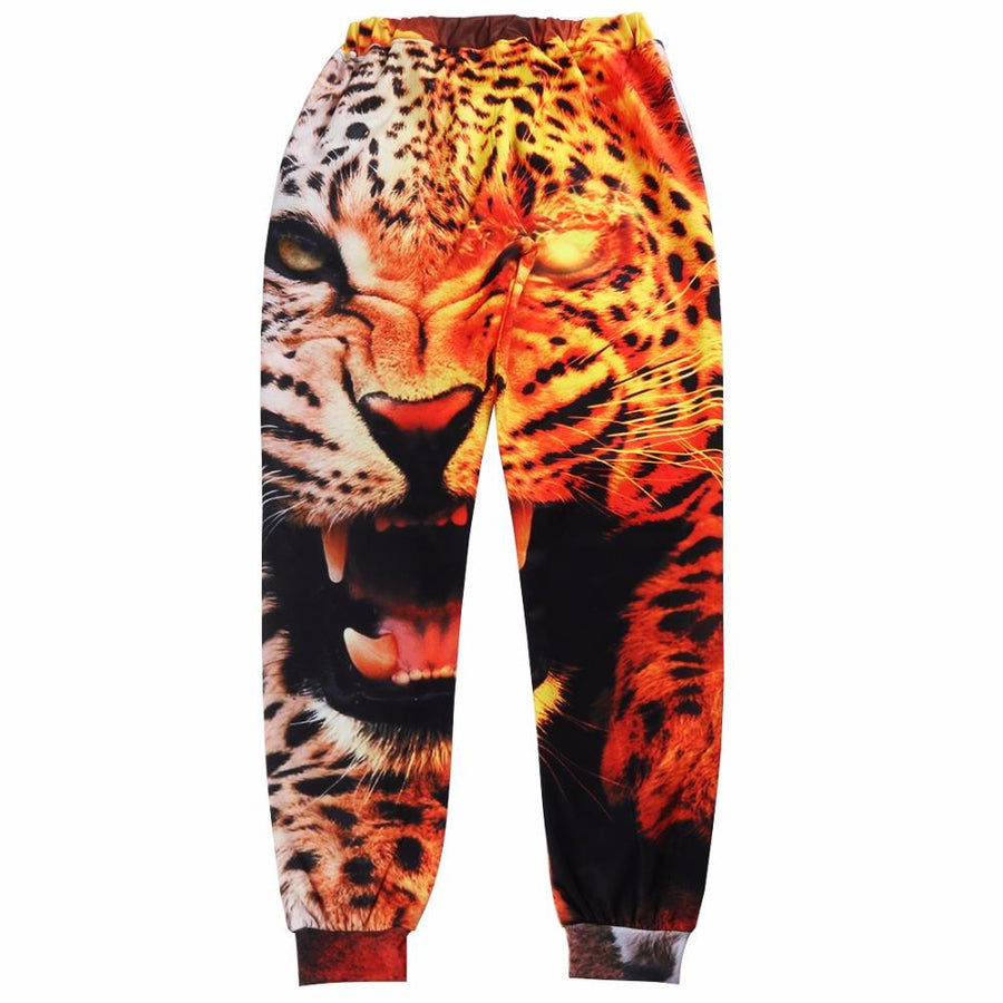 2017 Fashion Pants Men 3D Print Animal Leopard Pants Brand Casual Sweatpants Men's Joggers Male Clothing