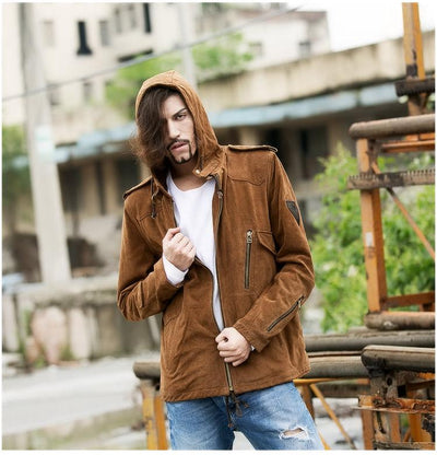 2017 Genuine Leather Jacket Man natural cow suede leather jacket plus size for men 200kg factory quality and price free shipping Leather Betty's Genuine Leather Store- upcube
