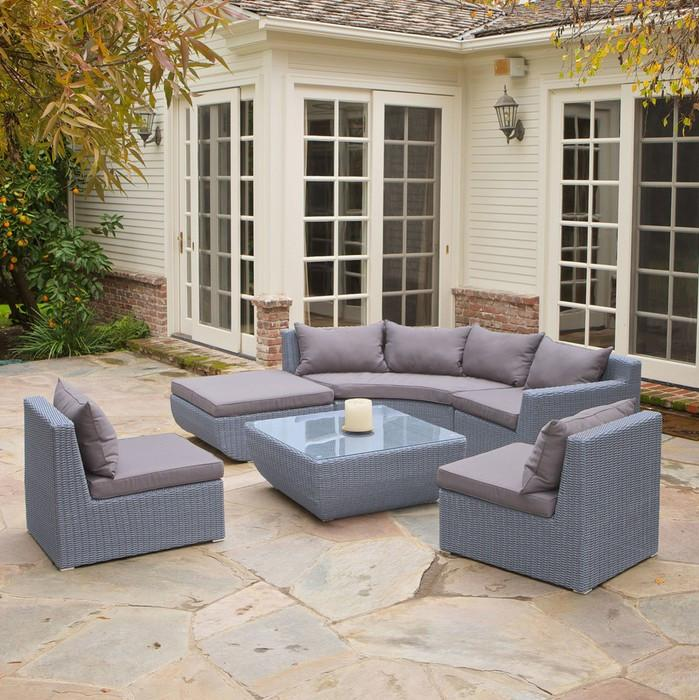 corner living room furniture. 2017 Living Room Furniture 6 Pcs Outdoor Wicker Sectional Corner Sofa -  Jetcube Living Room Furniture W