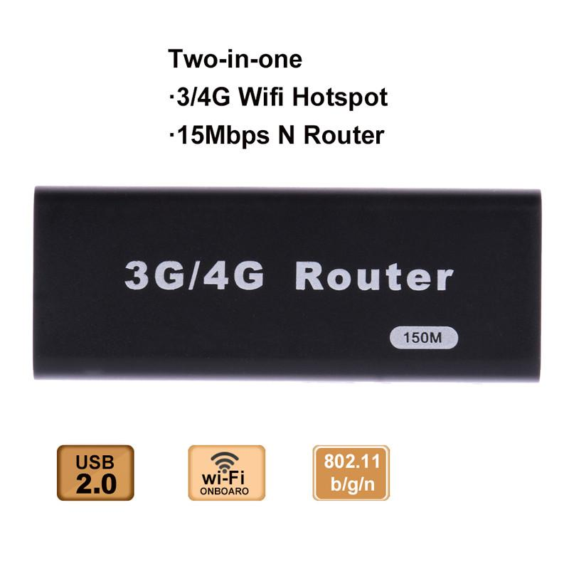 2017 Mini 3G/4G WiFi Wlan Hotspot AP Client 150Mbps RJ45 for WAN or LAN USB Wireless Router For Mini 3G WiFi Router
