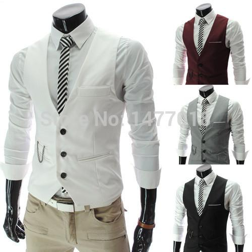 2017 New Arrival Dress Vests For Men Slim Fit Mens Suit Vest Male Waistcoat Gilet Homme Casual Sleeveless Formal Business Jacket  HANQIU Store- upcube