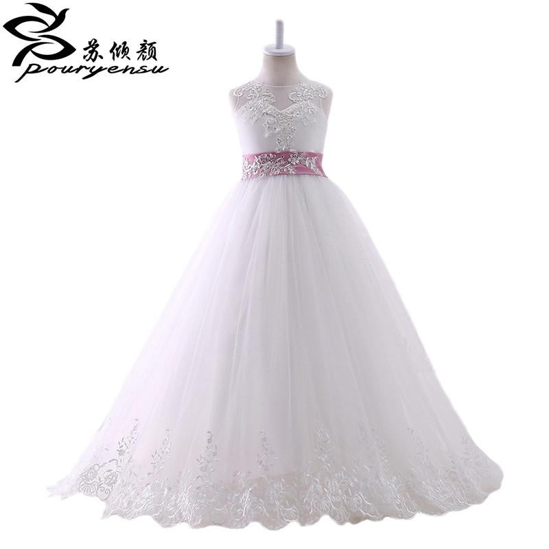 2017 Real Picture Flower Girl Dress First Communion Dresses Girls ...
