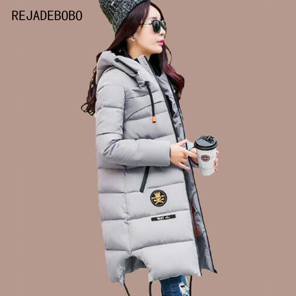 2017 Winter Thickening Women Parkas Women's Wadded Jacket Outerwear Fashion Cotton-padded Jacket Medium-long Coat Army Green Parkas Shop926713 Store- upcube