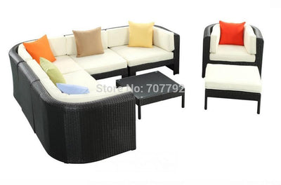 2017 curved outdoor furniture gaden rattan sofa set Outdoor Furniture Jinhua Sigma Industrial & Trading Co., Ltd.- upcube