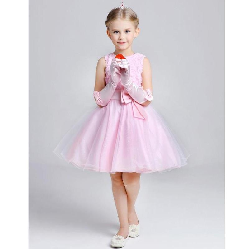2017 Summer New Arrival Purple Flower Girl Dress Cute Princess
