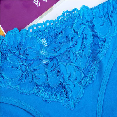 #2121 New Arrival Underwear Women Cotton Panties with Lace Women Briefs - Jetcube