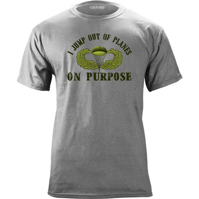I Jump Out of Planes Parachutist T-Shirt