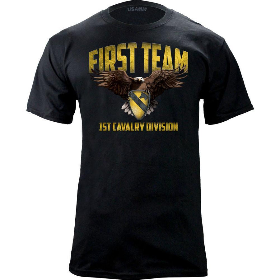 Shirts - 1st Cavalry First Team Graphic T-Shirt -   jetcube