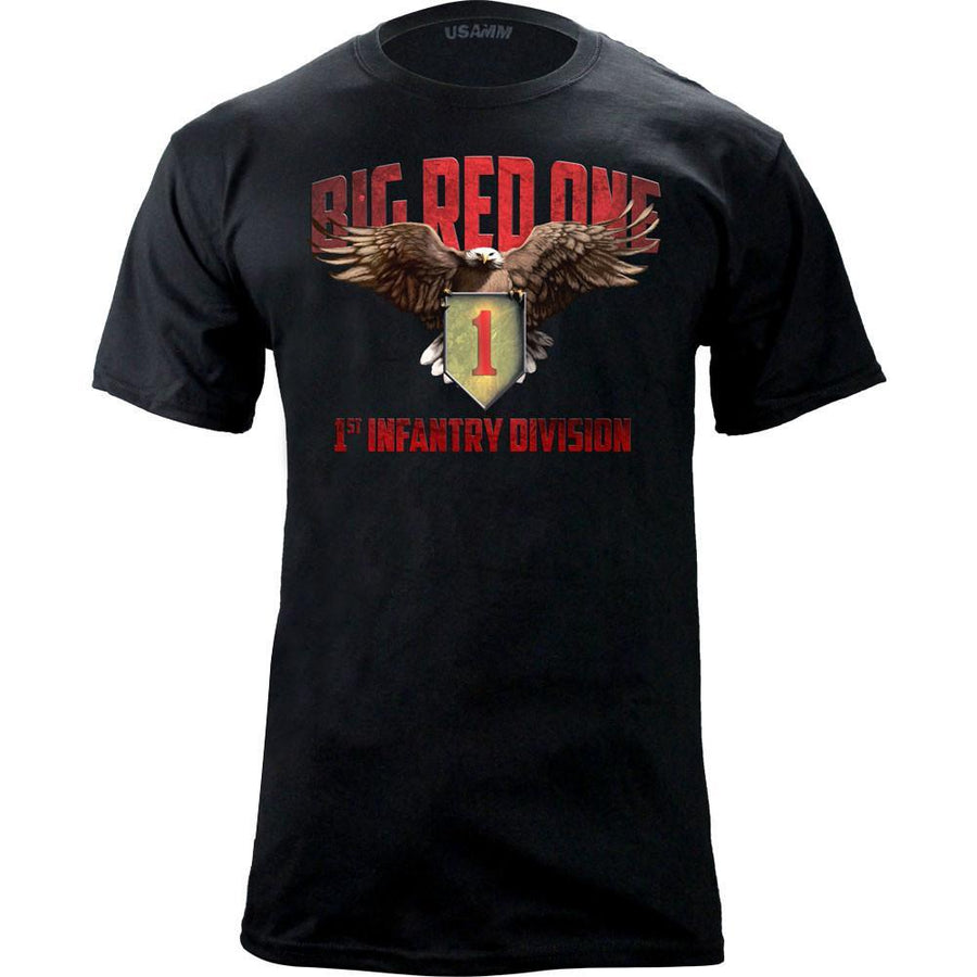Shirts - 1st Infantry Division Big Red One Graphic T-Shirt -   jetcube