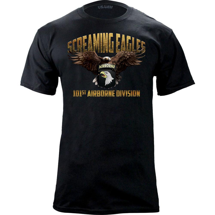 Shirts - 101st Airborne Screaming Eagles Graphic T-shirt -   jetcube