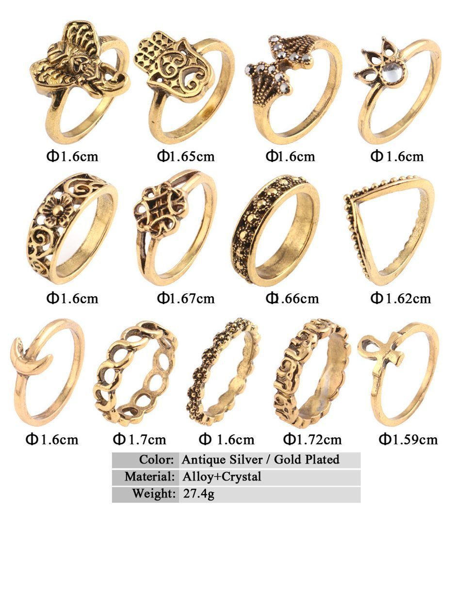 Rings Accessories - 13pcs Vintage Rings Accessories -   jetcube