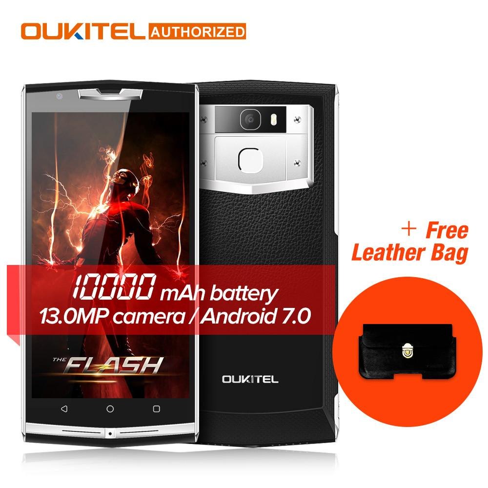 Cell Phone - $30 Gift Bag!! 10000mAh Quick Charge Oukitel k10000 pro 4G Mobile Phone 5.5'' FHD 3GB 32GB Android 7.0 13.0MP Rear Smartphone -   jetcube
