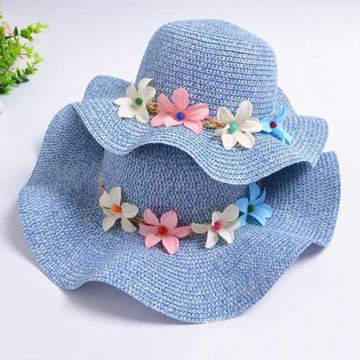 Mom Girl Flower Decorated Hat
