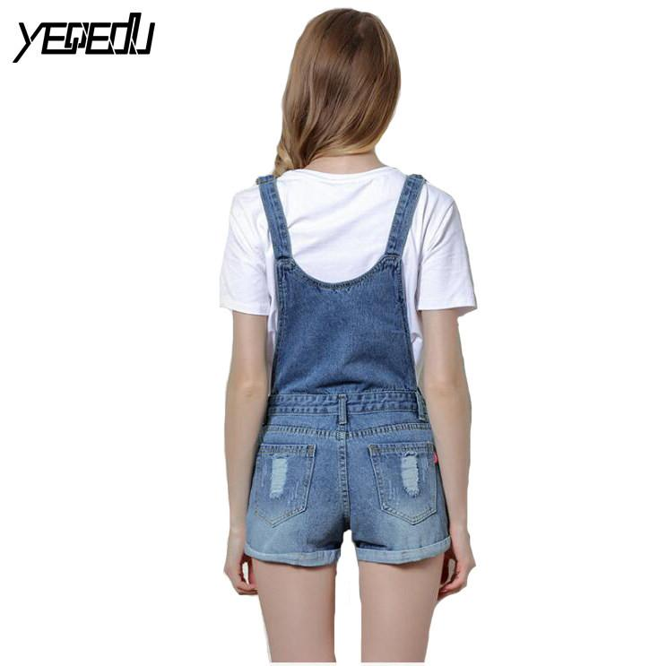 #3321 2017 Women overalls Combinaison short femme Playsuits Fashion Short jumpsuit Denim shorts jumpsuit Denim overalls women