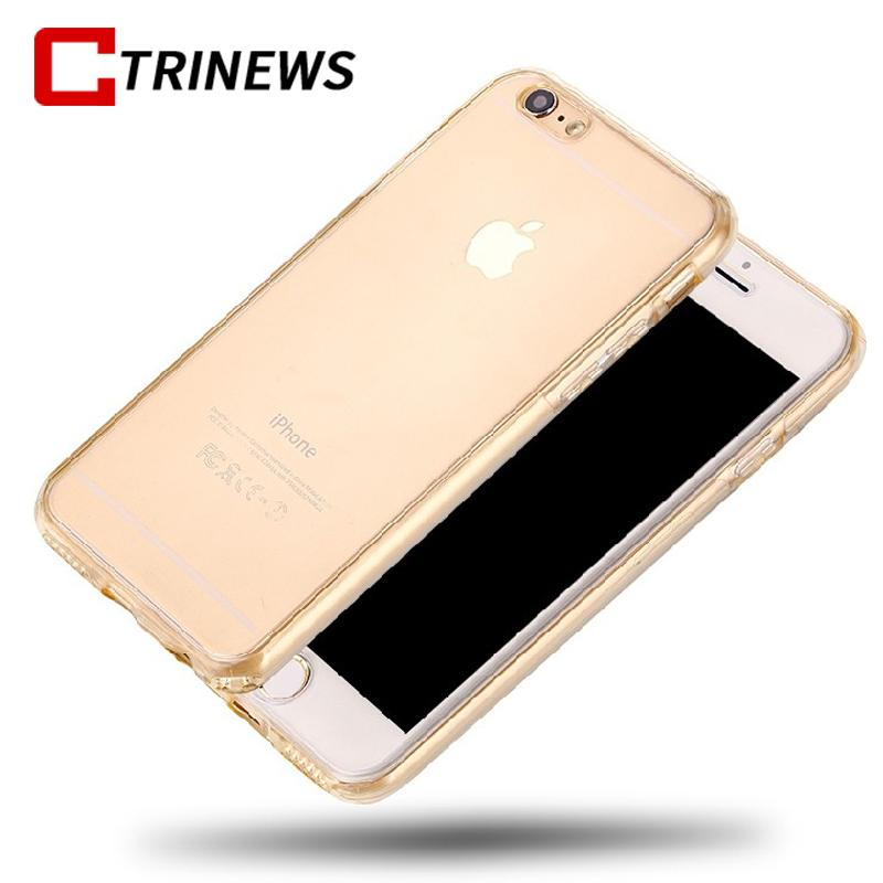 360 Degree Full Body Protection Cover Case For iPhone 7 7 plus 6S 6 plus 5 5S SE Transparent Clear Soft TPU Silicone Phone Case Fitted Cases CTRINEWS Official Store- upcube