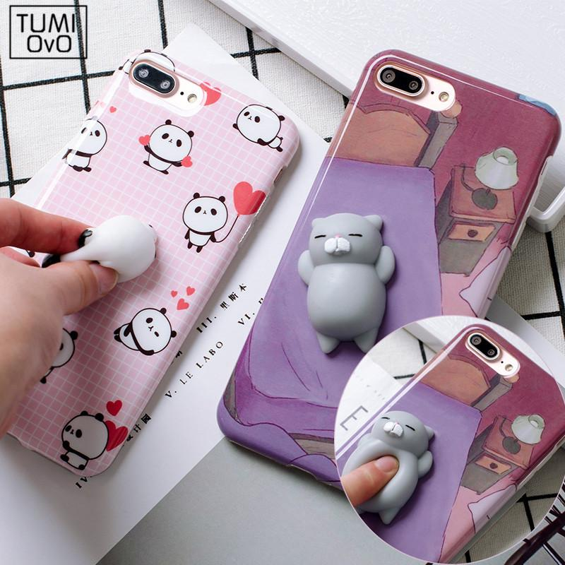 9350f9995e ... 7 Plus Phone Cases Coque. 3D Cartoon Cute Soft Silicone Squishy Panda  Squishy Cat Fundas Cover Case for iPhone 6 6S