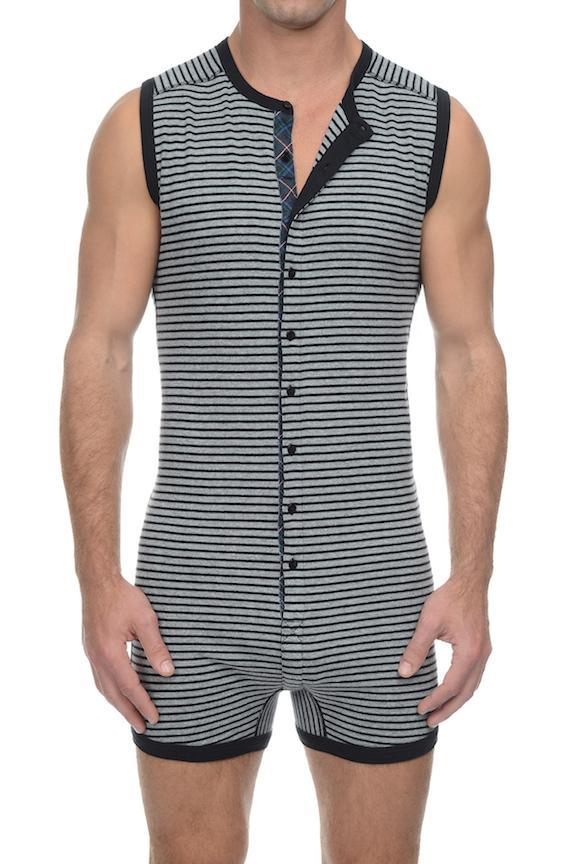 Singlets - 2(X)IST Black & Heather Grey Tartan Bike Suit -   jetcube