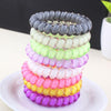 Hair Accessories - (3pcs) Popular Scrunchies Telephone Wire Gum For Ladies Elastic Hair Band Rope Candy Colored Bracelet  Large size Scrunchy -   jetcube