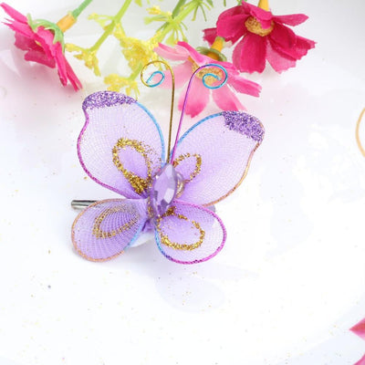 5 Pcs Summer Style Prom Dancing Headwear Butterfly Chiffon Baby Barrette  Children Kids Hair Clip Accessories Baby e99d017fd