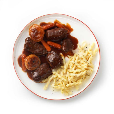 Tyson Tastemakers, Red Wine Braised Beef with Creamy Gemelli Pasta, Serves 2