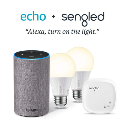 Echo Sub Bundle with 2 Echo (2nd Gen) Devices - Charcoal Fabric