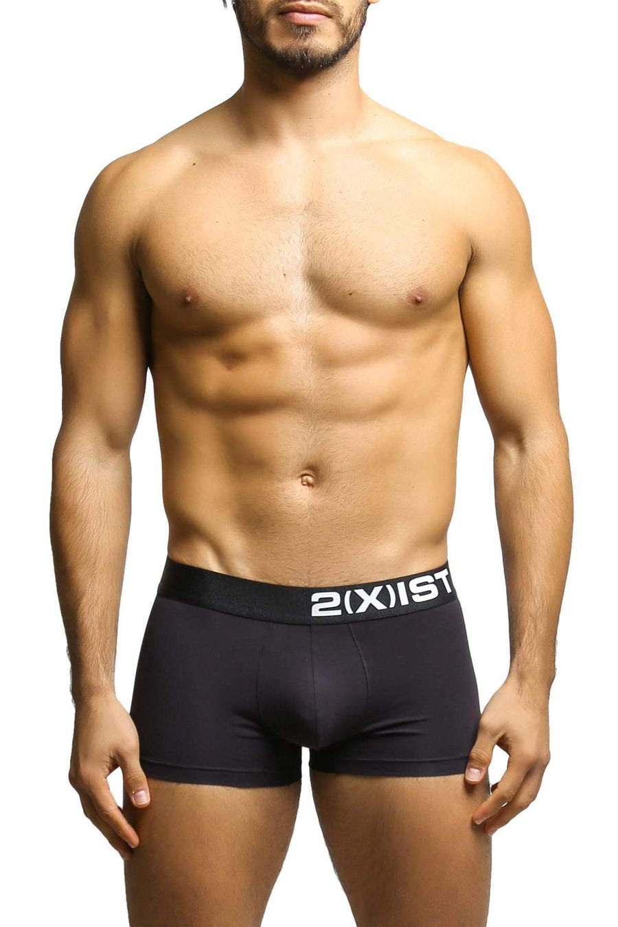 Trunks - 2(X)IST Black Electric Cotton Stretch Trunk -   jetcube