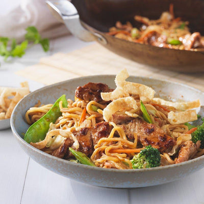 Tyson Tastemakers, Yakisoba Noodle Stir Fry with Miso Ginger Pork Meal Kit, Serves 2