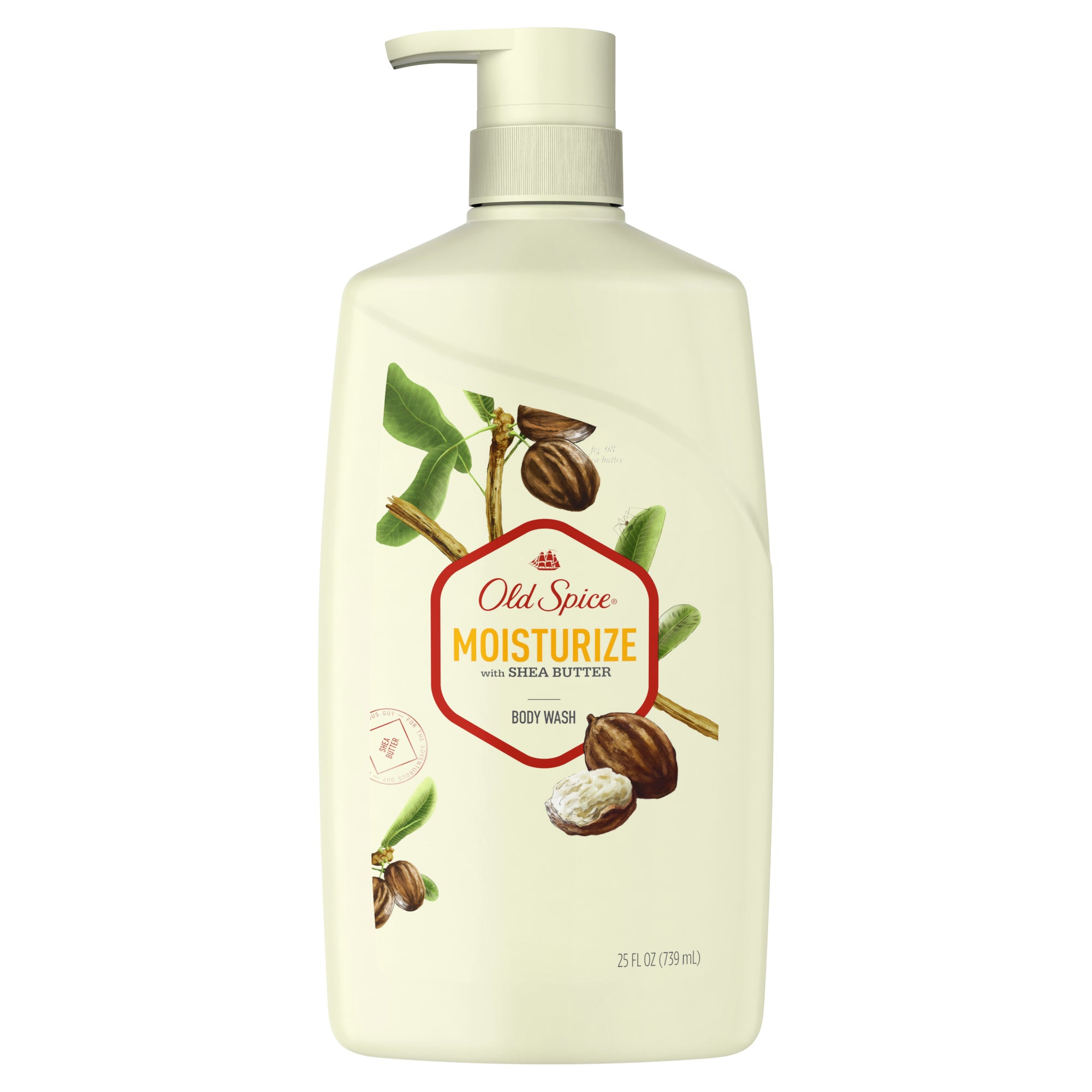Old Spice Body Wash for Men, Moisturize With Shea Butter Body Wash Scent Inspired by Nature, 27 oz