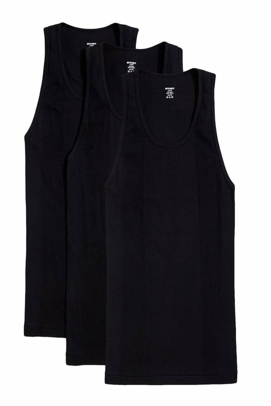 Tank Tops - 2(X)IST Black Essentials Athletic Tank 3-Pack -   jetcube