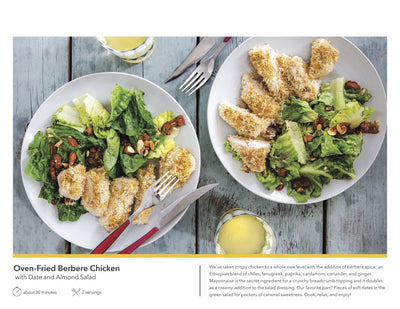 Martha & Marley Spoon, Oven-Fried Berbere Chicken with Date and Almond Green Salad Meal Kit, Serves 2