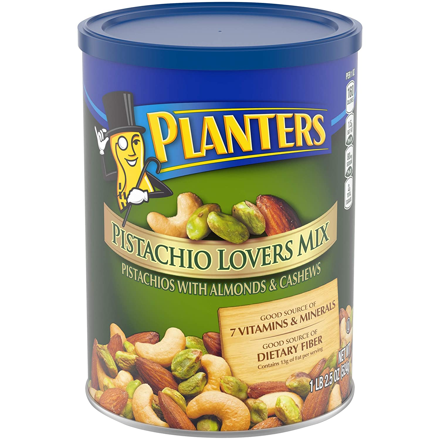 Planters Deluxe Pistachio Mix, 18.5 oz. Resealable Container | Pistachio Lover's Mix: Pistachios, Almonds & Cashews | Mixed Nut Snacks | Kosher (00029000017191)
