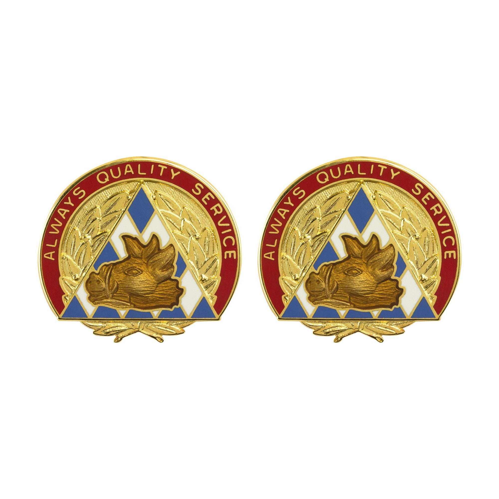Army Unit Crests - 100th Area Support Group Unit Crest (Always Quality Service) -   jetcube