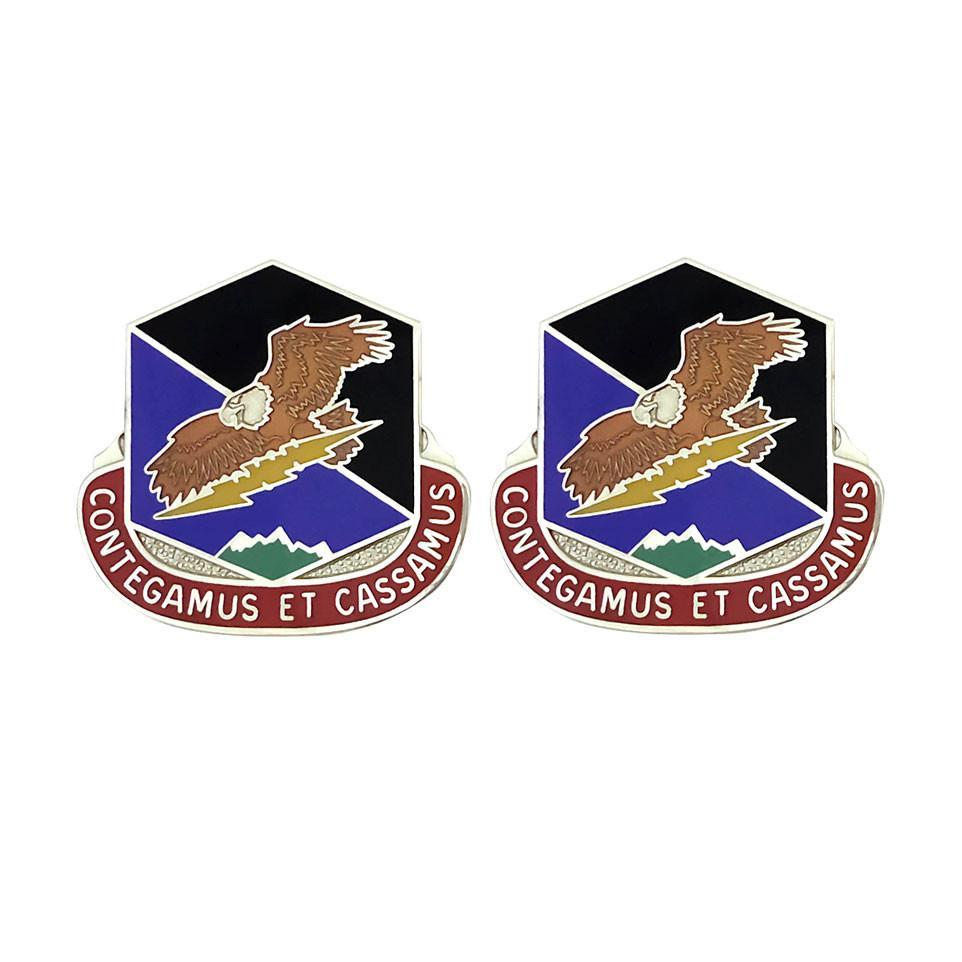 Army Unit Crests - 100th Missile Defense Brigade Unit Crest (Contegamus Et Cassamus) -   jetcube