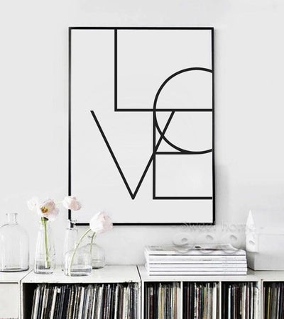 900D Canvas Art Print Painting Poster, Love Quote Wall Pictures For ...