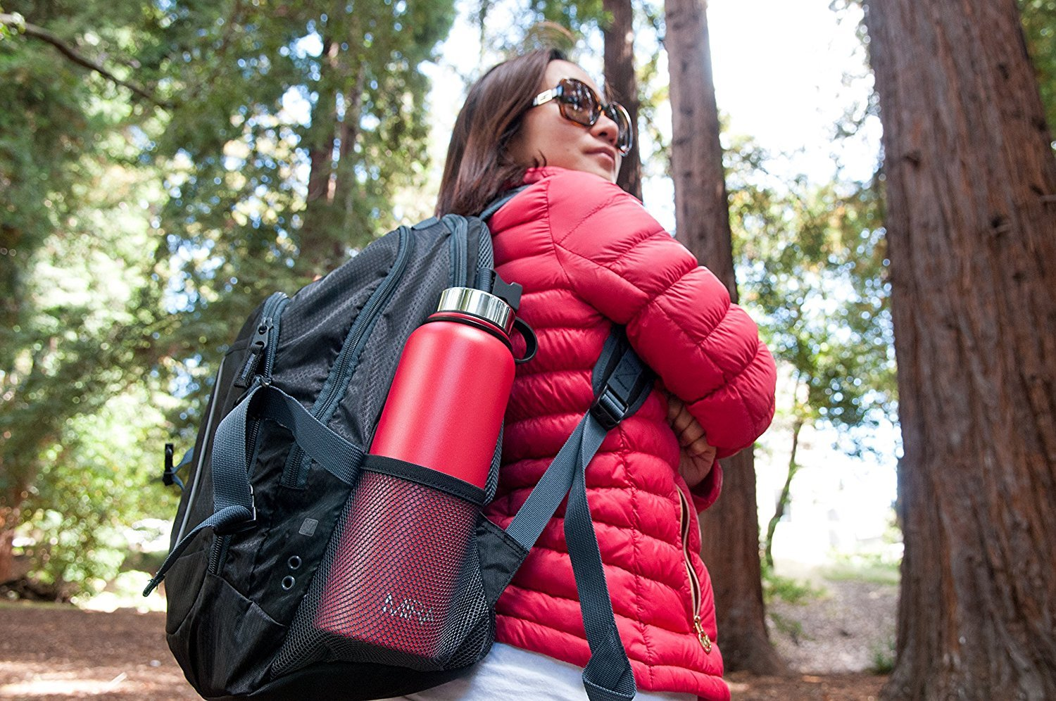 MIRA Stainless Steel Vacuum Insulated Wide Mouth Water Bottle | Thermos  Flask Keeps Water Stay Cold for 24 hours, Hot for 12 hours | Metal Bottle  with