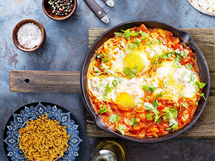 Takeout Kit, Moroccan Shakshuka (Moroccan Baked Eggs) Meal Kit, Serves 4